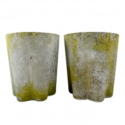 Pair of Big Midcentury Flower Shaped Planters by Willy Guhl for Eternit