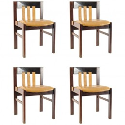 Set of 4 Midcentury Rosewood Dining Chairs by Martin Visser for 'T Spectrum