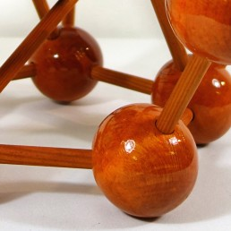 Very Decorative Midcentury Lacquered Wooden Scale Model of an Atom