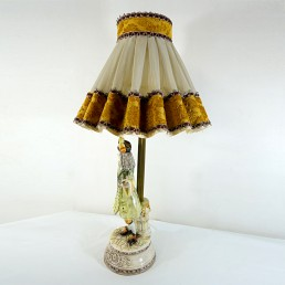 Baroque Bassano Porcelain Table Lamp of an Italian Aristocrat