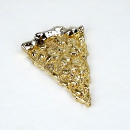 Ted Arnold High Society Solid Fake Gold Cast Fast Food Emporium Slice of Pizza