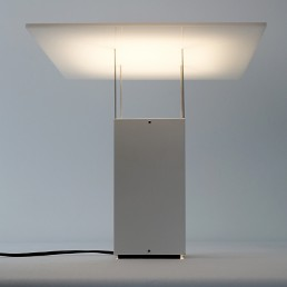 White Plexiglass Table Lamp attributed to Benno Premsela