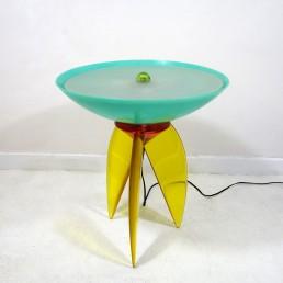 Resin and Fiberglass Table Lamp Postmodern Style by Steve Zoller