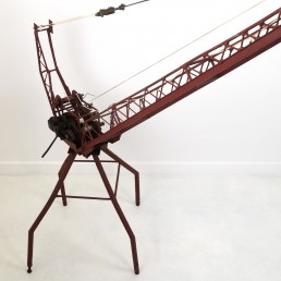 Enormous Pre-War Toy Steel Hoisting Crane