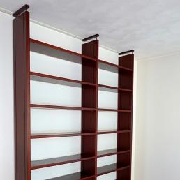 Mid-Century Modern Bookcase Made of Dark Wood
