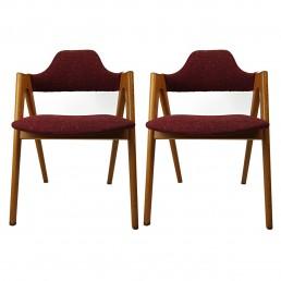 Pair of Mid-Century Modern Compass Chairs by Kai Kristiansen for SVA Mobler