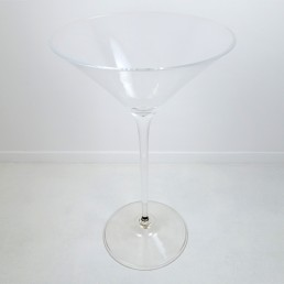 Larger Than Life Mid-Century Modern Cocktail Glass Made of Plexiglass