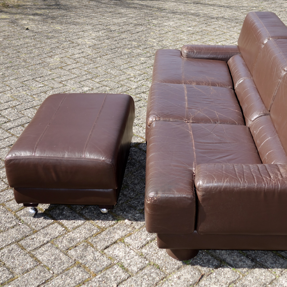 Mid Century Modern Leather Sofa By Brazilian Designer