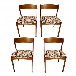 Set of 4 Mid-Century Modern Teak Wood Dining Chairs by Johannes Andersen