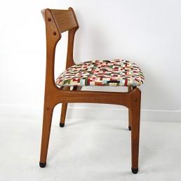 Set of 4 Mid-Century Modern Teak Wood Dining Chairs by Johannes Andersen