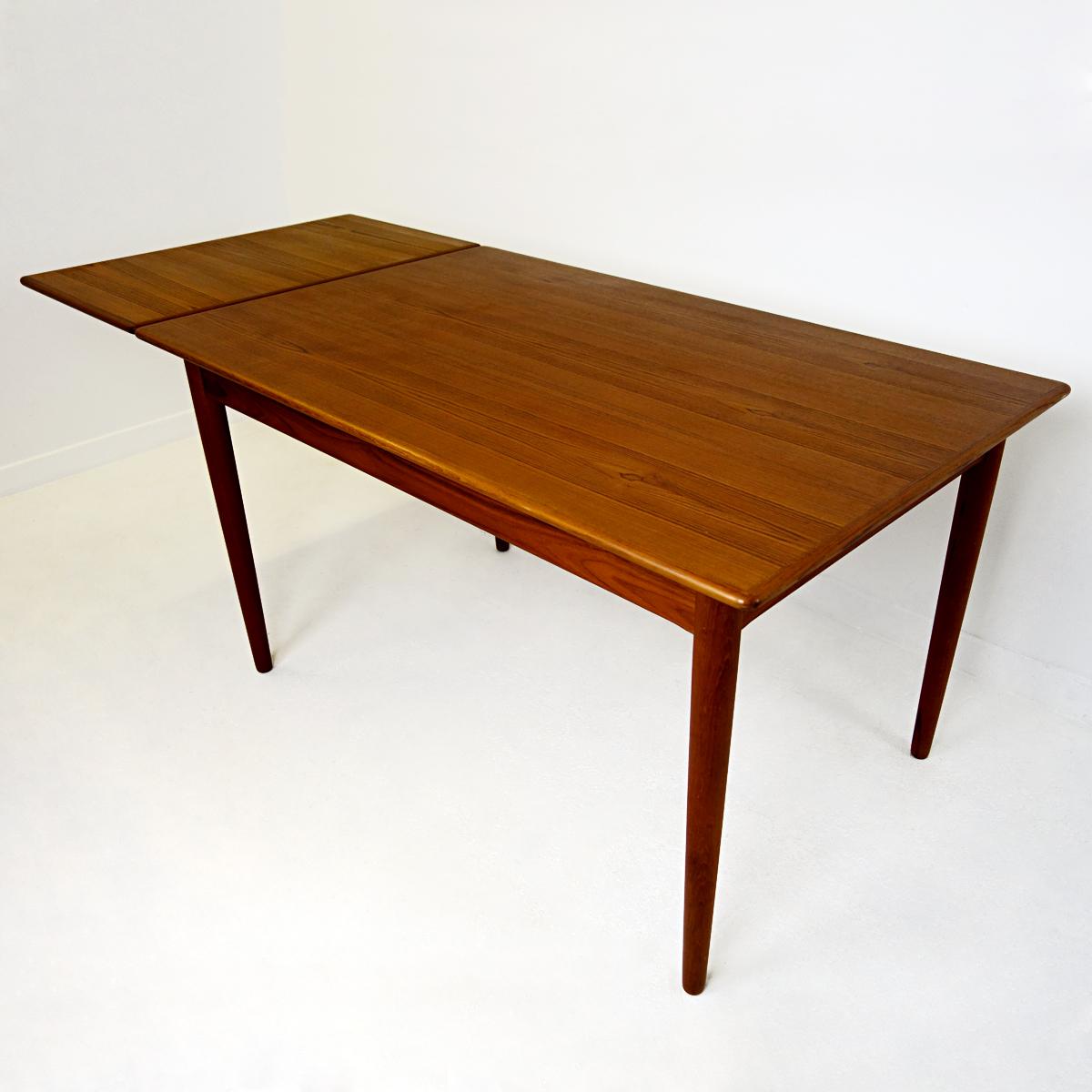 Image of: Mid Century Modern Teak And Oak Extendable Scandinavian Dining Table Doctor Decorum