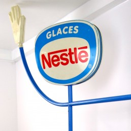 "1970s Life-Size Promotional Object Made by Nestlé Selling Ice Cream ""Glaces"""