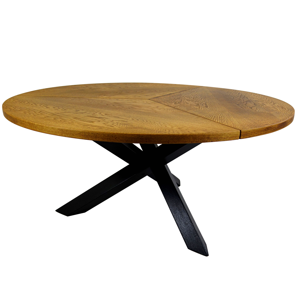 Design Bank Martin Visser.Round Mid Century Tripod Oak Dining Table By Martin Visser For T