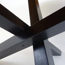 Round Mid-Century Tripod Oak Dining Table by Martin Visser for 't Spectrum