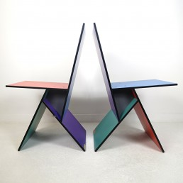 Set of Two Postmodern Vilbert Chairs Designed by Verner Panton for Ikea