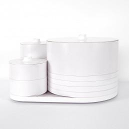 Midcentury Melamine Dinnerware Set Designed by Massimo Vignelli for Heller
