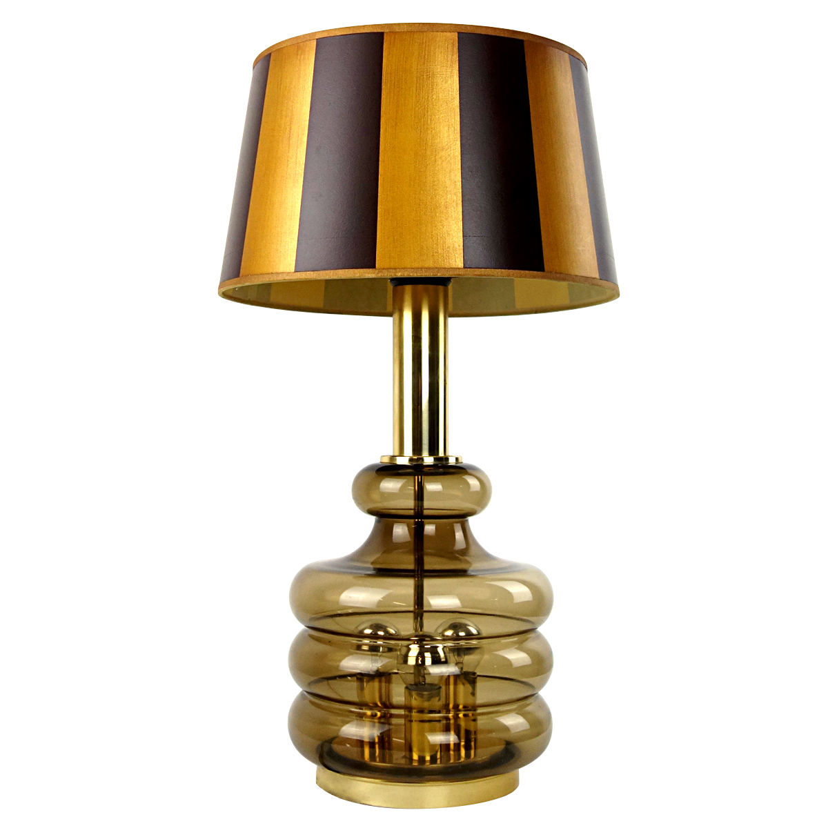Mid Century Modern Table Lamp Made Of Smoked Glass By Doria Leuchten Doctor Decorum