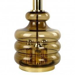 Mid-Century Modern Table Lamp Made of Smoked Glass by Doria Leuchten