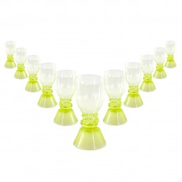 Set of Eleven 18th Century Dutch Wine Glasses