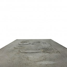 Sink Plaquette with Relief of a Roman Adonis in Loincloth Posing as Le Penseur