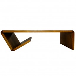 Mid-Century Modern Dutch Design Coffee Table in Paperclip Shape