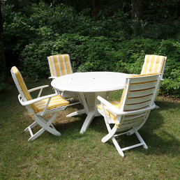 "Mid-Century Modern Garden or Patio Set ""Rivièra"" by French Maker Triconfort"