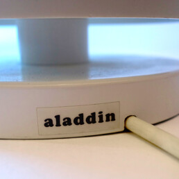 Postmodern White Table Lamp Aladdin Designed by Harco Loor