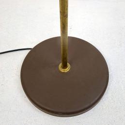 Mid-Century Modern Adjustable Floor Lamp in Brass and Brown by RAAK Amsterdam