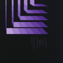Triptych of Op-Art Serigraphies Made and Signed by Yvaral - Jean-Pierre Vasarely