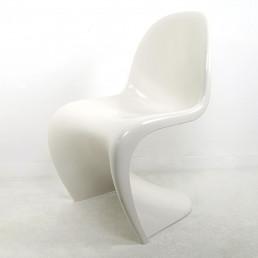 Gloss White Panton S-Chair by Verner Panton / Herman Miller Fehlbaum Production