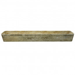 Mid-Century Modern XL Rectangular Cement Planter by Willy Guhl for Eternit