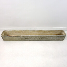 Mid-Century Modern XL Rectangular Cement Planter by Willy Guhl for Eternit
