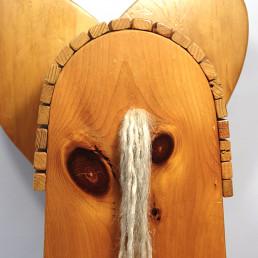 Mid-Century Modern Wooden Rocking Elephant