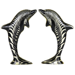 Mid-Century Modern Pair of Dolphins in Lucite Made by Abraham Palatnik