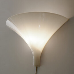 """Mid-Century Modern Pair of White Sconces """"Heksenhoed"""" by Harco Loor"""