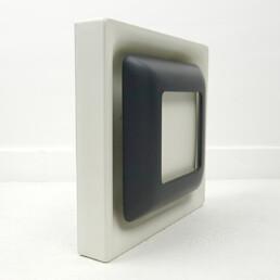 Mid-Century Modern Set of 4 Black and White Steel Sconces by Doria Leuchten