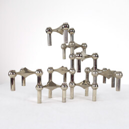 Mid-Century Modern Modular Candleholders '9X' by Caesar Stoffi for BMF Nagel