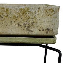 Mid-Century Modern Fiber Concrete Planter Designed by Bruno Rey for Eternit