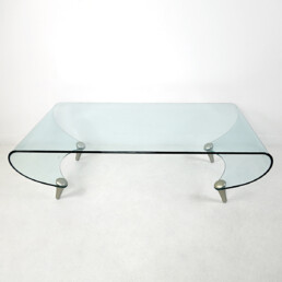 Postmodern Glass Coffee Table Tango by Fabio Di Bartolomei for Fiam Italia
