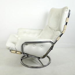 Mid-Century Modern Leather Swivel Chair Tanabe by Martin Visser for 't Spectrum