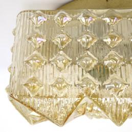 Mid-Century Modern Glass Relief Flushmount by RZB Leuchten