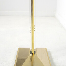 Hollywood Regency Rare Uplighter Floor Lamp in Brass and Lucite