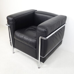 Pair of LC2 Easy Chairs by Le Corbusier and Charlotte Perriand for Cassina