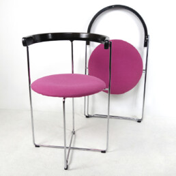 Post-Modern Pair of Sóley Folding Chairs by Valdimar Hardarson for Kusch+Co.