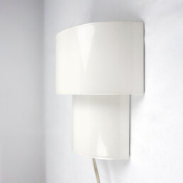 Set of Two Mid-Century Modern White Steel Sconces in RAAK Amsterdam Style