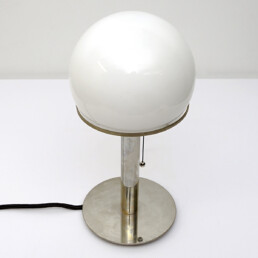 Bauhaus Wa 24 Table Lamp Designed by Wilhelm Wagenfeld for Tecnolumen