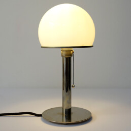 Bauhaus Wa 24 Table Lamp Designed by Wilhelm Wagenfeld for Tecnolumen
