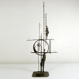 Brutalist Bronze Objet D'Art with Lots of Symbolism and Grace