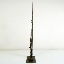 Brutalist Bronze Objet D'Art with Lots of Symbolism and Grace