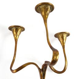 Jugendstil Brass Candleholder in Gaudí Style by Bäckhaus Solingen